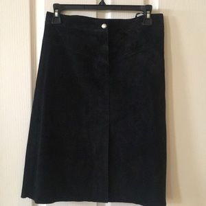 Bebe black suede skirt